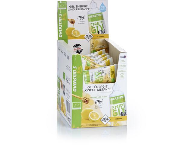 OVERSTIM.s Energix Organic Honey Liquid Gel Box 30x25g, Lemon & Turmeric